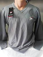 Мужской свитер однотонный