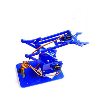 Роботизована рука комплект для збірки (синій акрил)