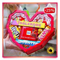 Подарочный набор сладостей девушке, жене, женщине, любимой, сестре на День Святого Валентина