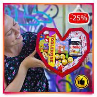 Подарок для девушки из конфет на День Святого Валентина