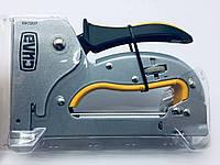 Степлер рессорный с регулировкой силы удара (для скобы 4-14мм) (стальной корпус) СИЛА