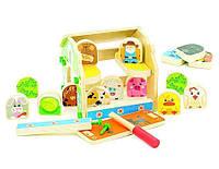 Игрушки из дерева Мир деревянных игрушек Деревянный игровой набор Домик Фермера (Д432)