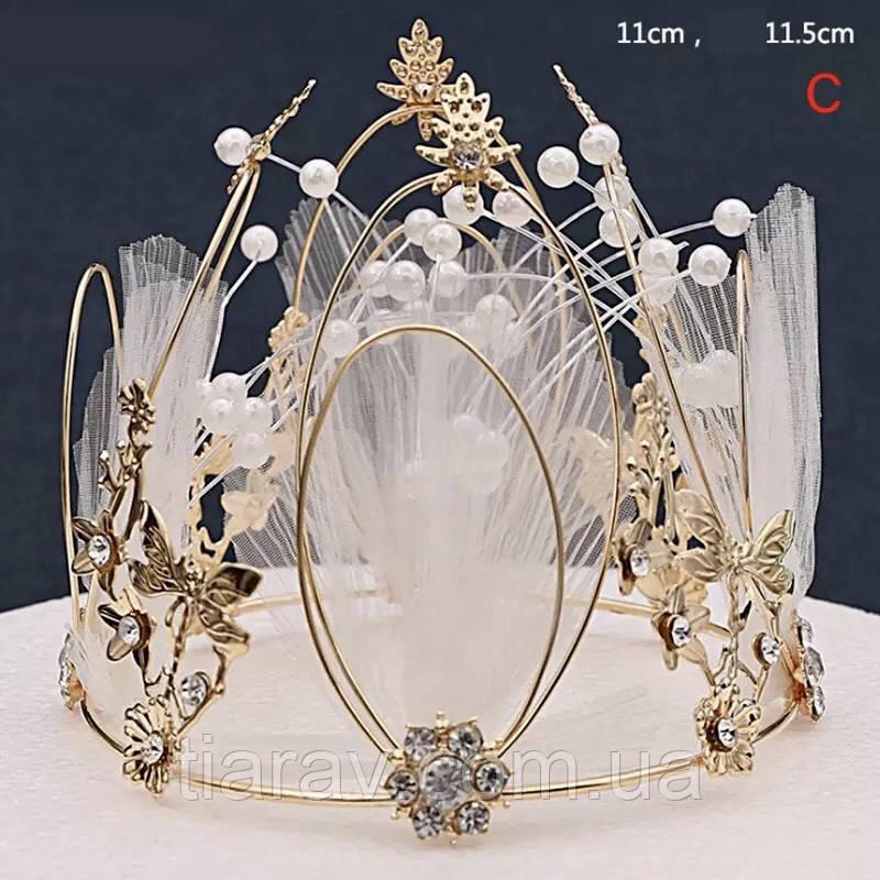 Корона на голову круглая, корона для волос
