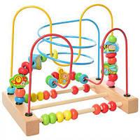 """Деревянный пальчиковый лабиринт, развивающая игрушка для детей """"Лабиринт"""", Maxland (MD 2212)"""