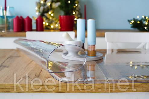 Мягкое стекло 1,2 мм, прозрачное покрытие для защиты от пятен и царапин на мебели, фото 2