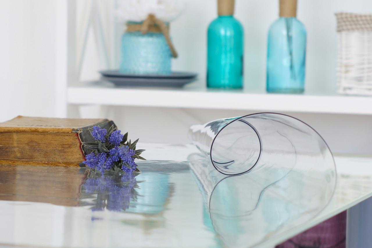 Мягкое стекло 1,2 мм, прозрачное покрытие для защиты от пятен и царапин на мебели