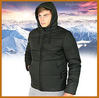 """Куртка мужская зимняя теплая с капюшоном, Пуховик мужской зимний """"Glacier"""" хаки, фото 1"""
