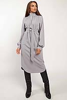 ✔️Модное женское платье свободное с поясом 42-52 размера разные расцветки