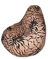 Кресло-мешок груша с цветами 120*90 см из микророгожки