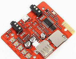 Аудио стерео модуль с Bluetooth, AUX, Mic, Декодер USB MicroSD TF MP3