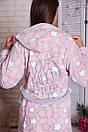 """Короткий теплый женский халатик со звездочками и надписью на спине """"Карисса"""", фото 3"""