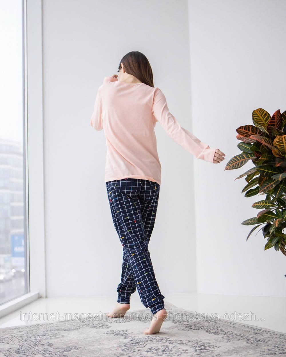 Жіноча піжама на гудзиках в дрібний горошок, 95% бавовна, 5% еластан, розміри, М, Д, ХЛ