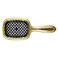 Гребінець для волосся золото з чорним Janeke Superbrush Limited Gold (8006060593348)