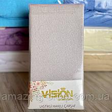 Махровая простынь на резинке 230х250см Универсальная простынь VISION Premium 100% - Хлопок Турция