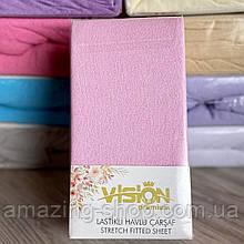Простынь на резинке махровая  230х250см Универсальная простынь VISION Premium 100% - Хлопок Турция