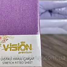 Простынь на резинке махровая 230х250см ПростыньVISION Premium 100% - Хлопок Производитель - Турция
