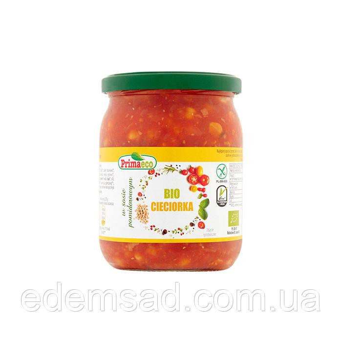 Нут в томатному соусі, 440г (скло) Польща БЕЗ ГЛЮТЕНУ ОРГАНІК