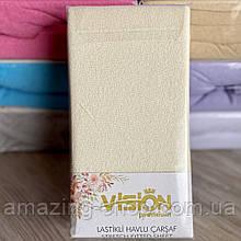 Махровая простынь на резинке 230х250см Простынь VISION Premium 100% - Хлопок Производитель - Турция