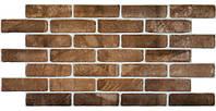 Декоративні Панелі ПВХ Цегла старий коричневий
