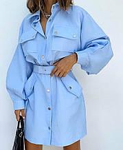 Платье женское повседневное коттоновое.   Размеры: 42-46, 46-48