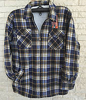 Рубашка теплая мужская на меху размер 56 в розницу, фото 1