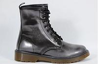 Ботинки мартинсы Made in Italy 5425m 38 р 24.5 см темно-серый 5426