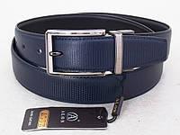 Мужской двухсторонний ремень Alon черно-синий, фото 1