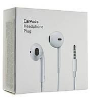 Наушники еирподс AA 3,5мм Apple iPhone Earpods (упаковка картон)