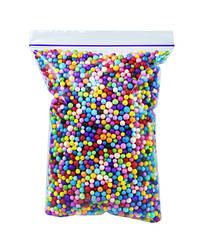 Цветные пенопластовые шарики