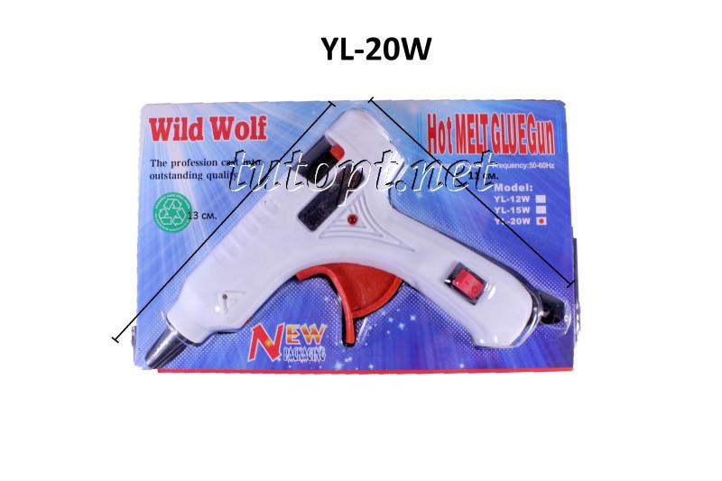Клеевой пистолет Wild Wolf YL-20W 20W под тонкие 7мм клеевые стержни