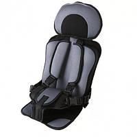 Автокресло бескаркасное детское Child Сar Seat цвет серый 2434460