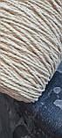 Шнур хлопковый крученный Макраме 4мм Натуральный 600м, фото 2