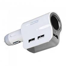 Автомобильный переходник для прикуривателя Ezra CR05 с 3 USB Белый