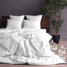 Двоспальний євро комплект постільної білизни зі страйп-сатину 100% бавовнв