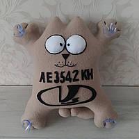 """Іграшка в машину """"Кіт Саймона"""" номерний знак Лада 32 см"""