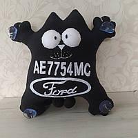 """Іграшка в машину """"Кіт Саймона"""" номерний знак Ford 32 см"""