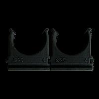 Кріплення для труб і кабелю  D25 (100 шт) чорне