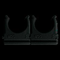 Кріплення для труб і кабелю  D20 (100 шт) чорне