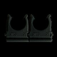 Кріплення для труб і кабелю  D16 (100 шт) чорне