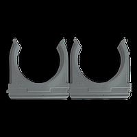 Кріплення для труб і кабелю  D50 (25 шт) сіре