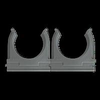 Кріплення для труб і кабелю  D40 (25 шт) сіре