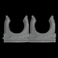 Кріплення для труб і кабелю  D32 (25 шт) сіре