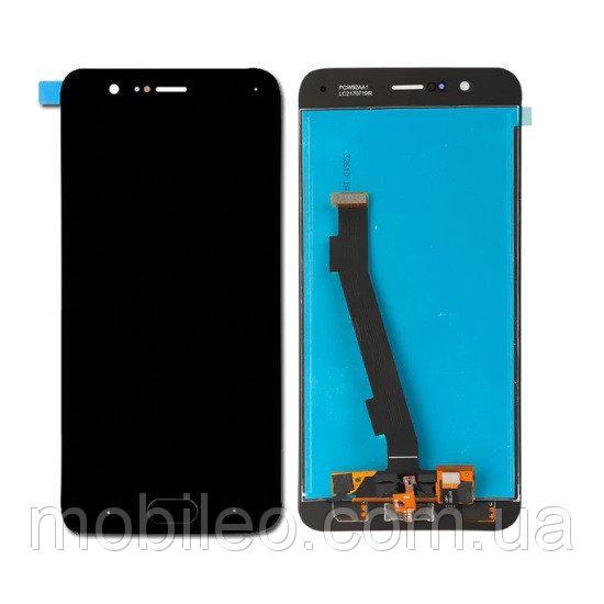Дисплей (LCD) Xiaomi Mi Note 3 с тачскрином и кнопкой Home, чёрный