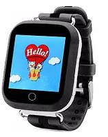 Детские умные смарт часы GPS Smart Baby Watch Q100 S Original Звоки + SMS + местоположение ребенка Черные