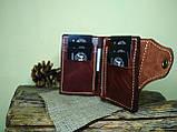 Кожаный кошелек ручной работы, фото 3