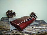 Кожаный кошелек ручной работы, фото 2