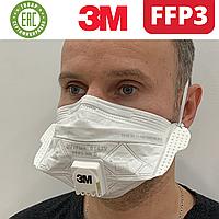 Респиратор FFP3 с клапаном 3m Vflex 9163v ффп3 многоразовая маска 3-й класс для медиков. Распродажа склада