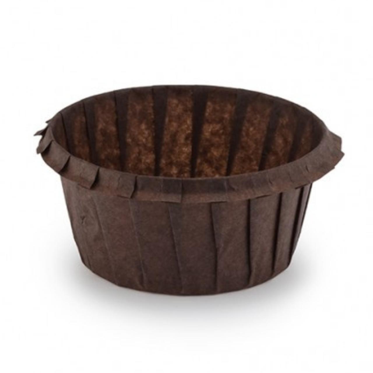 Паперові форми для кексів «З бортиком» 55х35, коричневі