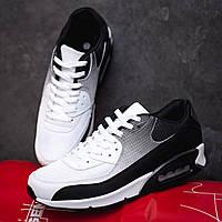Кроссовки в стиле Nike Air Max 90 белые с ченым