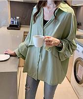 Шелковая блузка свободного кроя с объемными рукавами, фото 3